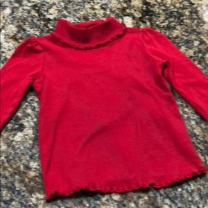 Old navy red turtleneck size 6 to 12 month girls